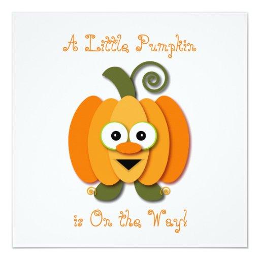 adorable little pumpkin baby shower card zazzle