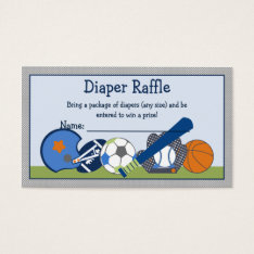 Adorable Little Sport Player Diaper Raffle Tickets at Zazzle