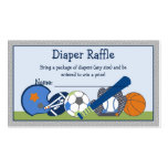 Adorable Little Sport Player Diaper Raffle Tickets Double-Sided Standard Business Cards (Pack Of 100)