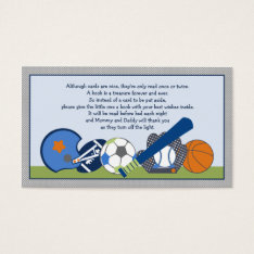 Adorable Little Sports Player Book Request Cards at Zazzle