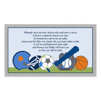 Adorable Little Sports Player Book Request Cards Business Card Template