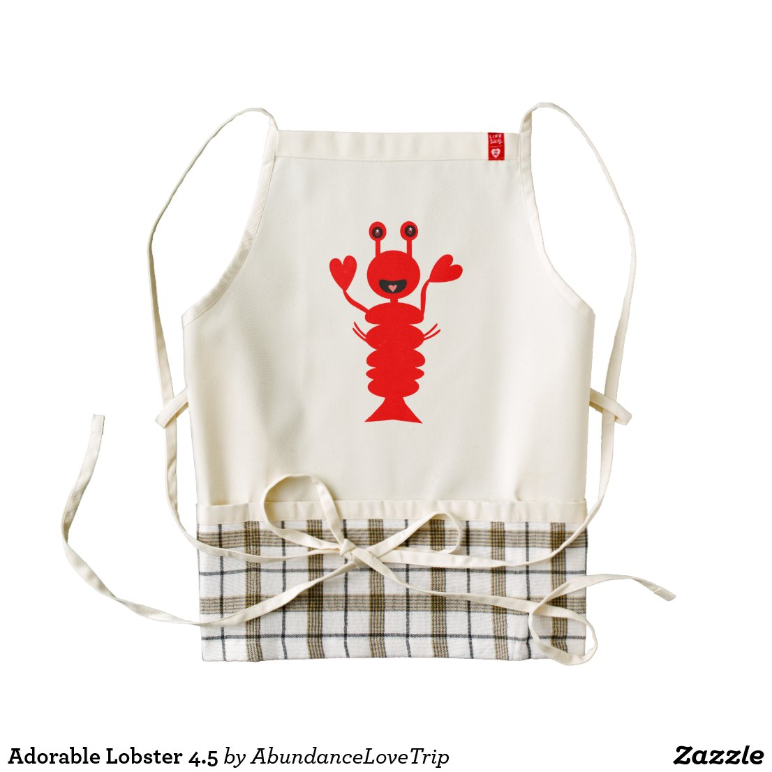 Adorable Lobster 4.5 Zazzle HEART Apron