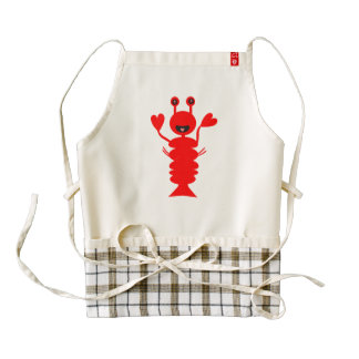 Adorable Lobster Zazzle HEART Apron