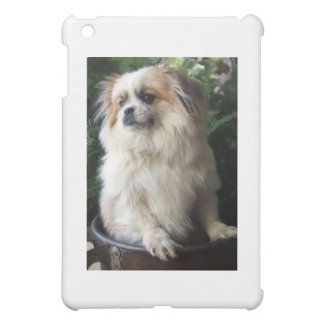 Adorable Long Hair Rescue Dog Case For The iPad Mini