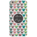 """Adorable """" Love Pugs"""" colorful pugs illustration Barely There iPhone 6 Plus Case"""