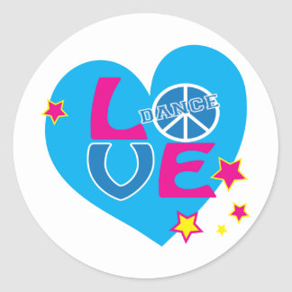 Adorable Love to Dance Shirts for Girls and Women Stickers