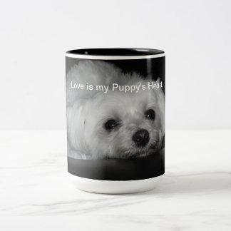 Adorable Loving Maltese Christmas Puppy Mug