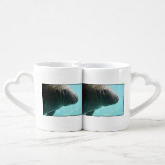 Adorable Manatee Swimming Couple Mugs