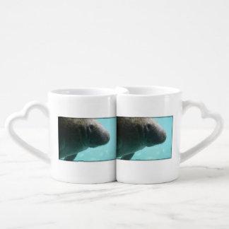 Adorable Manatee Swimming Lovers Mug Sets