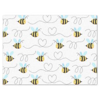 Adorable manosee el modelo de la abeja papel de seda grande