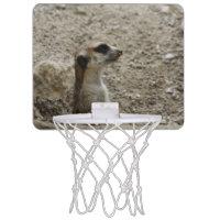 Adorable meerkat mini basketball hoops