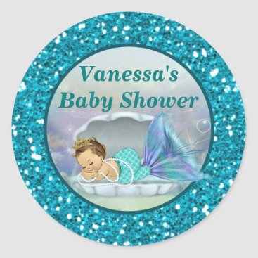 PartyStoreGalore Adorable Mermaid Baby Shower sticker stickers #130