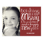 Adorable Message Christmas Photo Card Postcard Post Cards
