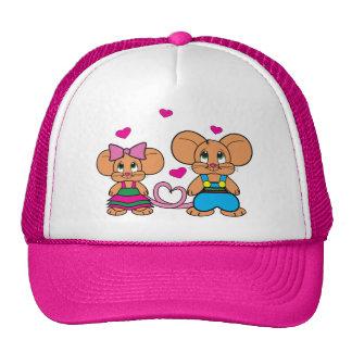 Adorable mice in love! trucker hat