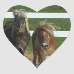 Adorable Miniature Horse Heart Stickers