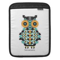 Adorable Modern Owl Quilt iPad Sleeve