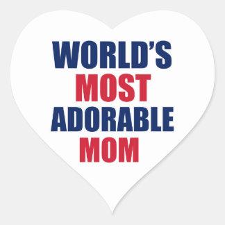Adorable mom heart sticker