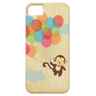 Adorable Monkey Flying Away with Balloons Cover For iPhone 5/5S