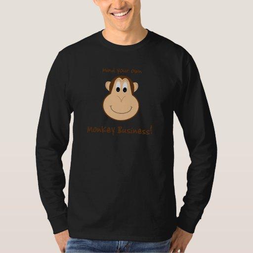 Adorable monkey mens LS tshirt