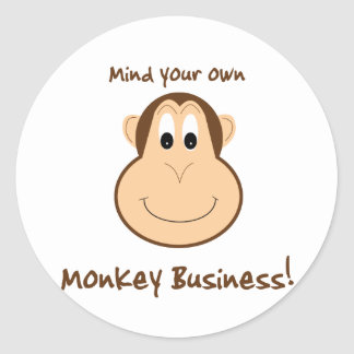 Adorable monkey sticker
