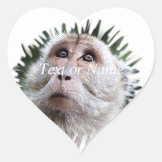adorable monkey sticker