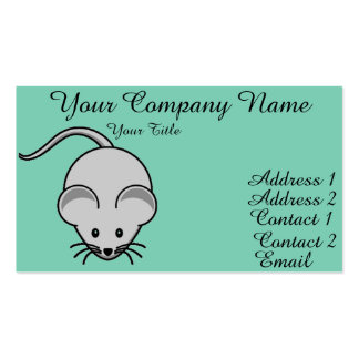 Adorable Mouse Business Card