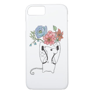 Adorable mouse flower seller. iPhone 8/7 case