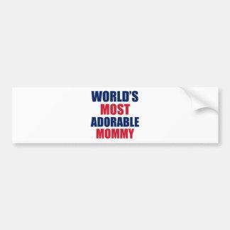 Adorable mummy bumper sticker