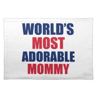 Adorable mummy place mat