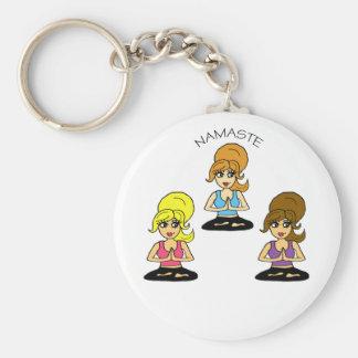 Adorable Namaste Yoga Keychain