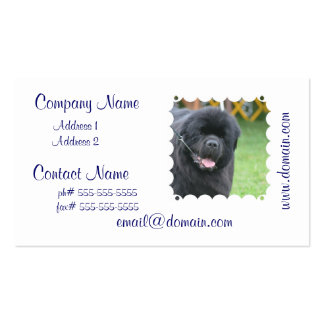 Adorable Newfoundland Business Card Template
