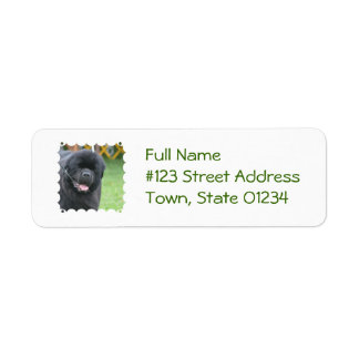 Adorable Newfoundland Return Address Label