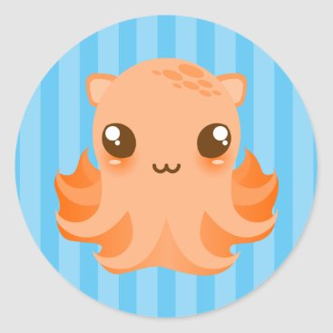 Toddler & Baby themed Adorable Octopus - Cute Kawaii Stickers