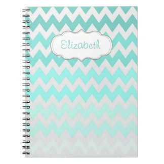 Adorable Ombre, Zigzag ,Chevron-Personalized Notebook