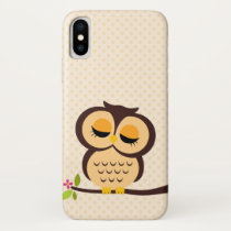 Adorable Orange Owl iPhone X Case