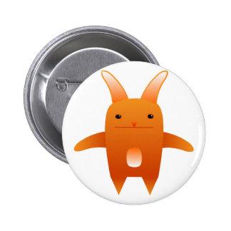 adorable orange rabbit. pinback button