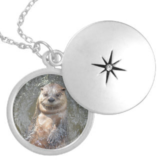 Adorable Otter on His Back Locket