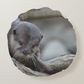 Adorable Otter Round Pillow