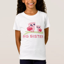 Adorable Owl Big Sister T-Shirt