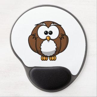 Adorable Owl Cartoon Art Gel Mouse Pads