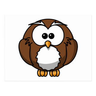 Adorable Owl Cartoon Art Postcard