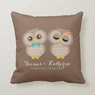 Adorable Owl Couple Pillow