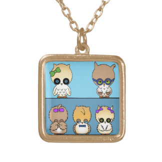 adorable owl family pendant