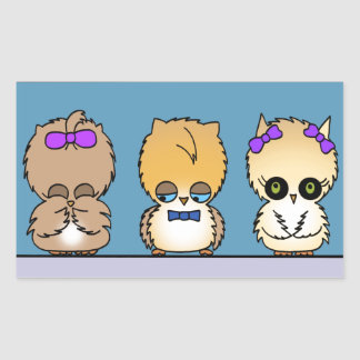 Adorable owl friends love stickers