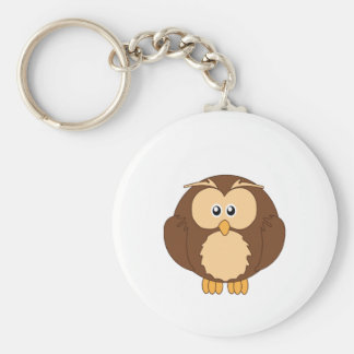 Adorable Owl Little Zoo Basic Round Button Keychain