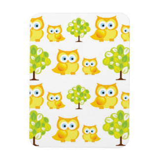 Adorable Owls and Trees Magnet