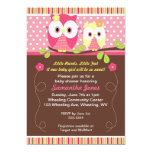 Adorable Owls Baby Shower Birthday Invitation
