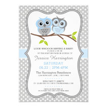 Adorable Owls Baby Shower Card