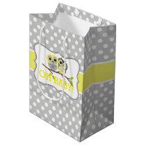 Adorable Owls Baby Shower Medium Gift Bag