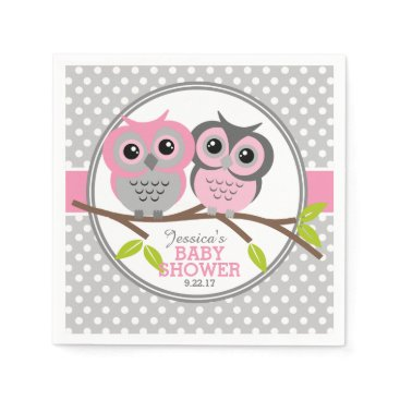 baby,or,expecting Adorable Owls Baby Shower Napkin